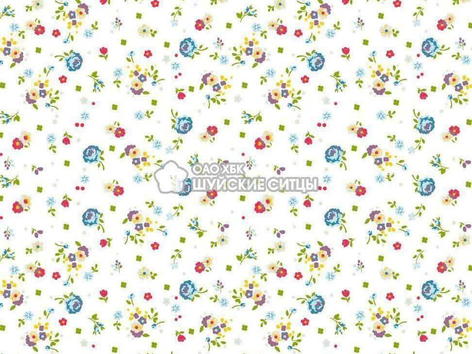 Ткань Ситец 150 97031 - Белый фон