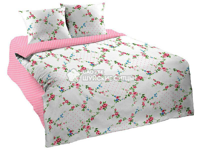 Ткань Ситец 150 88351 - Постельное белье Розовое с белым