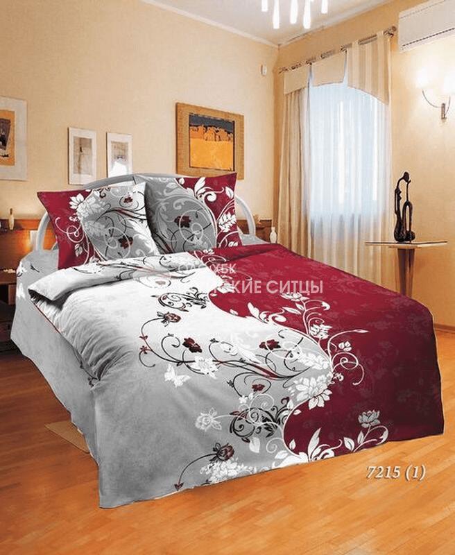 Ткань Ситец 150 72151 - Постельное белье Красно белый