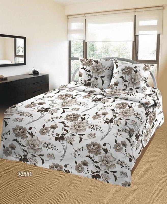 Ткань Ситец 150 72551 - Постельное белье Темно белое