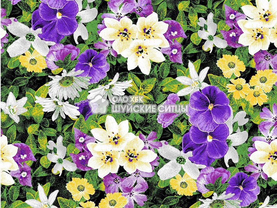 Ткань Фланель 80 см 75451 - Фиолетовые цветы