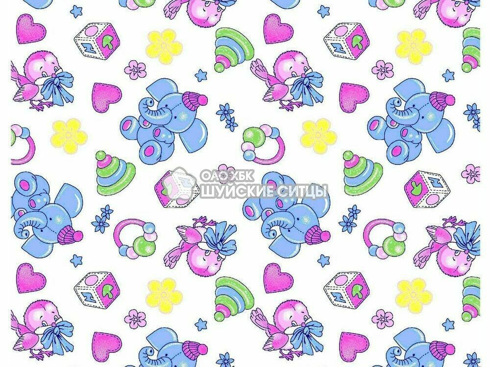 Ткань Фланель 80 см 89801 - Слоники