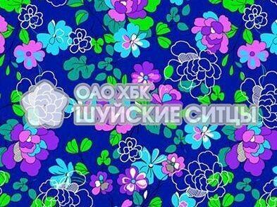 Ткань Фланель 80 см 88141 - Синий фон
