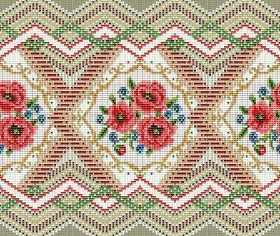 Дорожка 50 см 30101-1 Цветочная мозаика