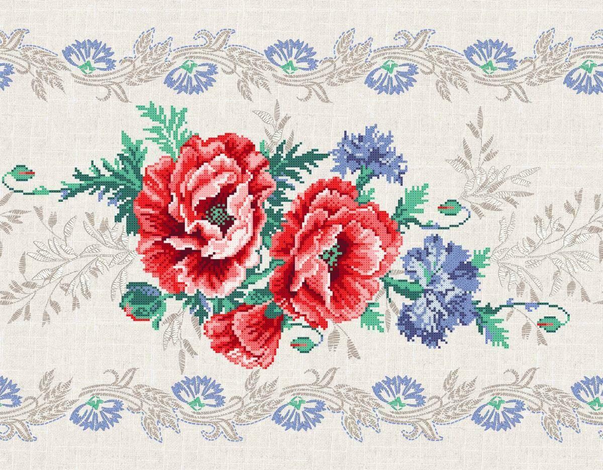 Дорожка 50 см 30121-1 Маков цвет