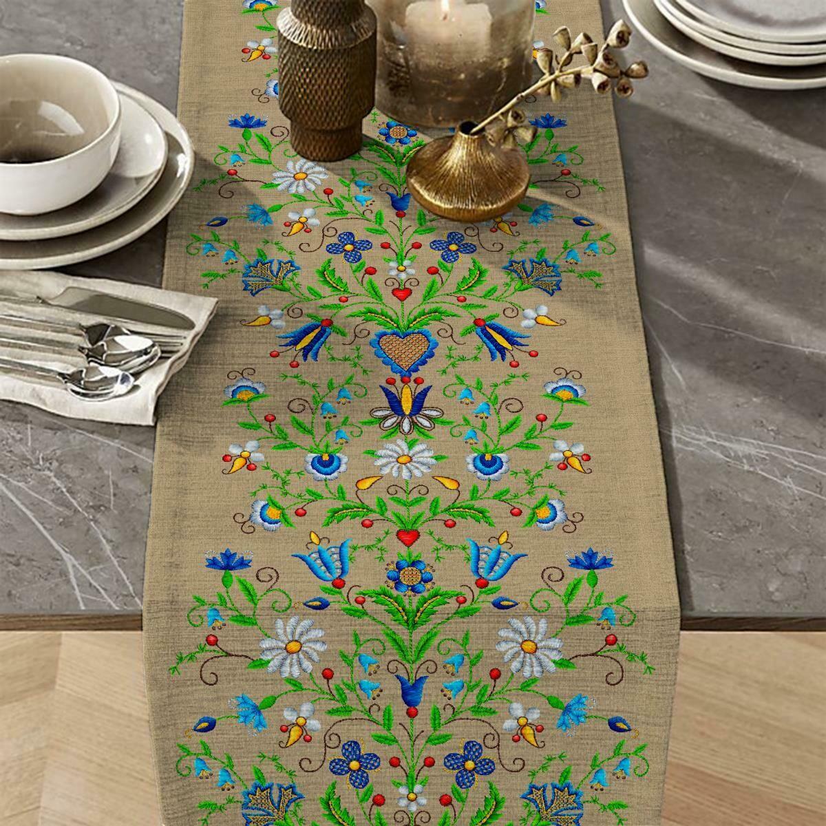 Дорожка 50 см 30162-1 Цветочный лен