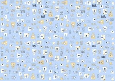 Фланель 90 см 21186-2 Мишки