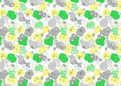 Фланель 90 см 21221-4 Звездные слоники