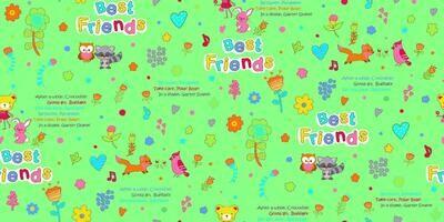Фланель 90 см 5580-5 Лучшие друзья