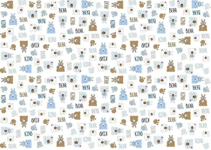 Фланель 90 см 21186-1 Мишки