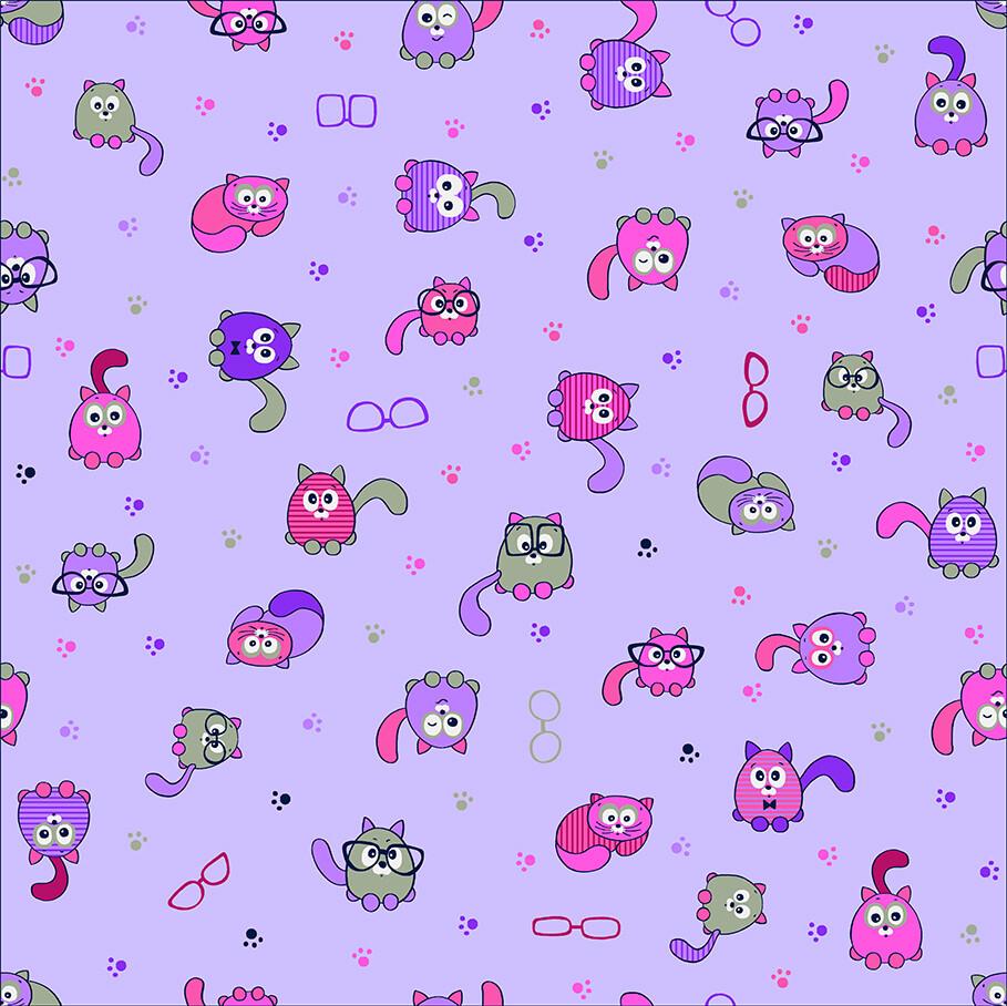 Ситец 95 см 5586-8 Мудрые котики