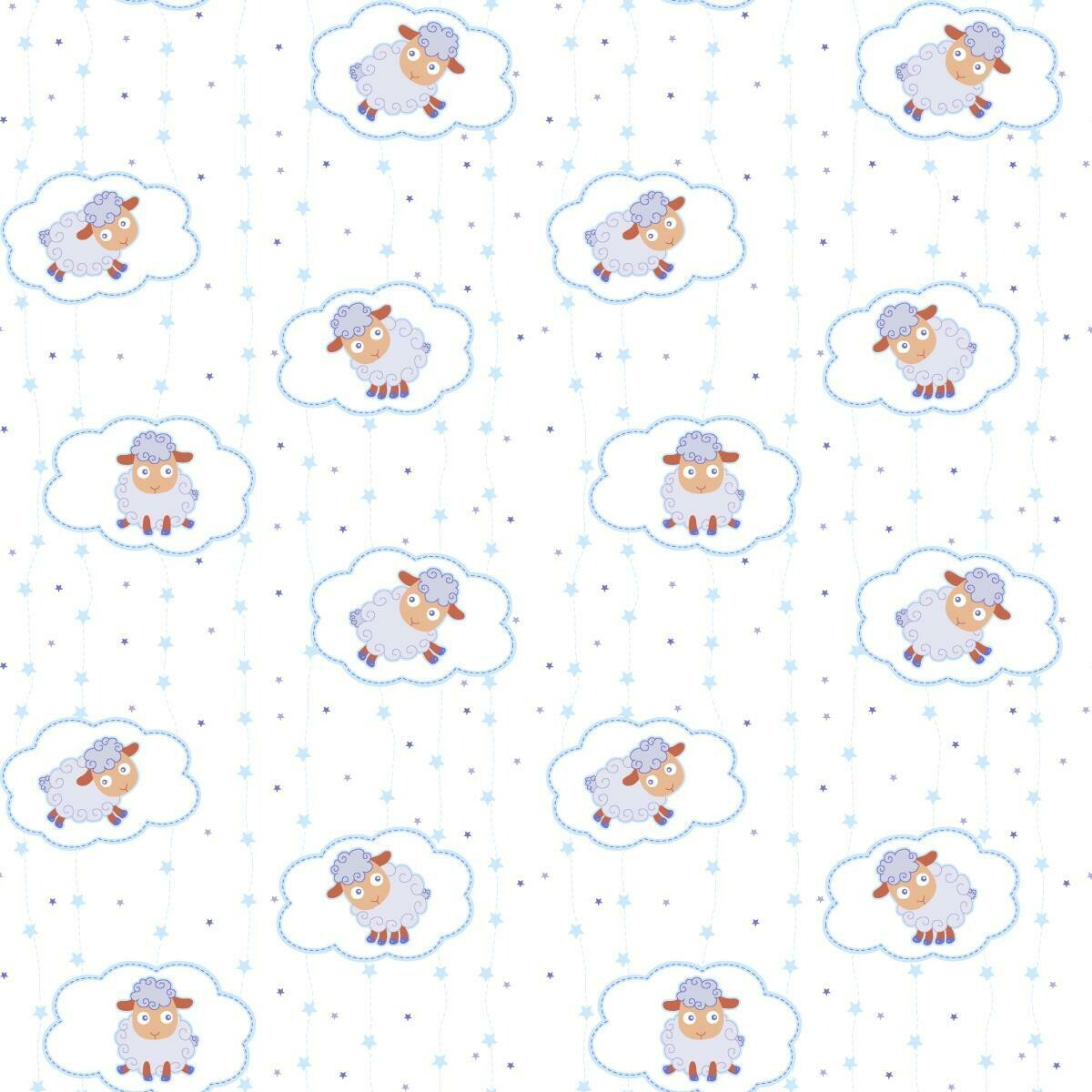 Облачные овечки Ситец 95 см 18784-1