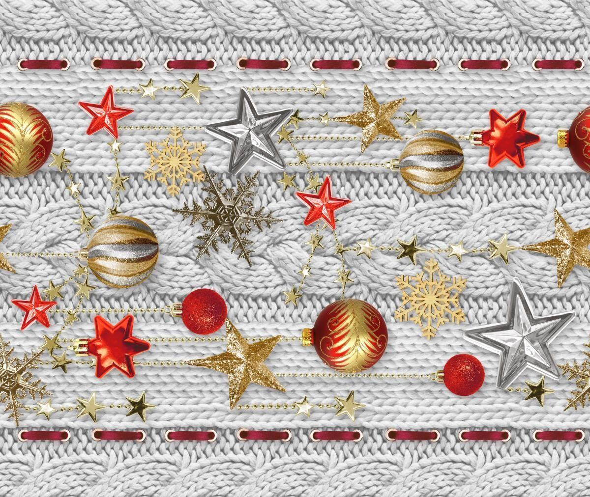 Дорожка 50 см 30044-1 Новогодняя звезда