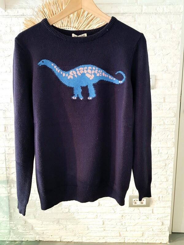 Stacey jersey dinosaurio azul