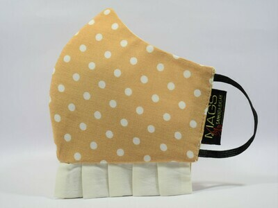 Beige Polka With Frill