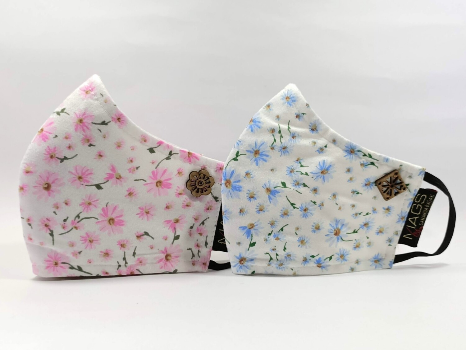 2 Set Combo - Pink And Blue Floral Printed Cotton
