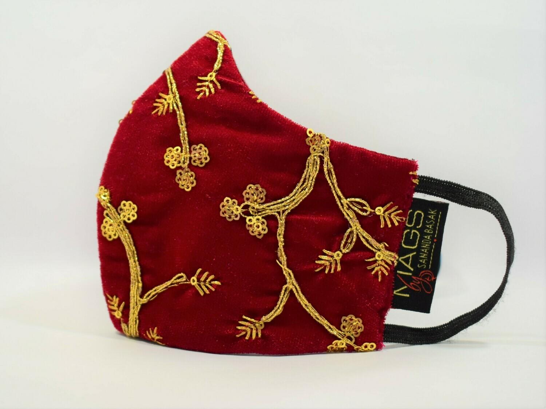 Zardosi Embroidered Maroon Velvet - II