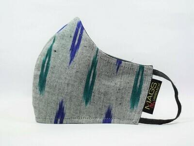 Grey Green Blue Ikat