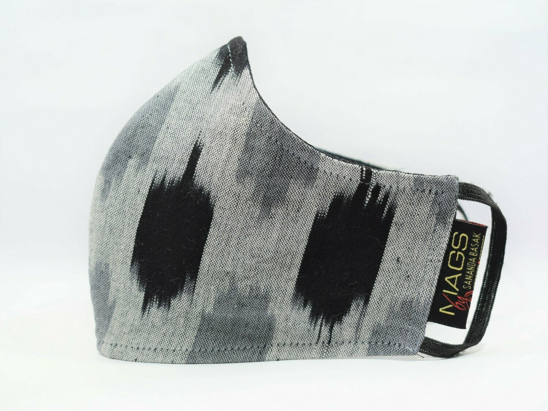 Grey Black Ikat