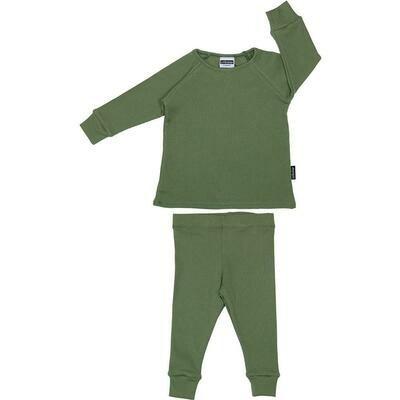 Cribstar | Ribbed Khaki Green Sett