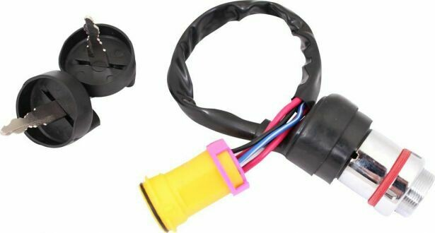 Ignition Key Switch - Switch, 2 Keys & Lock, CF Moto, Linhai, Buyang, Chironex, 260cc, 300cc, 500cc, 550cc, 600cc