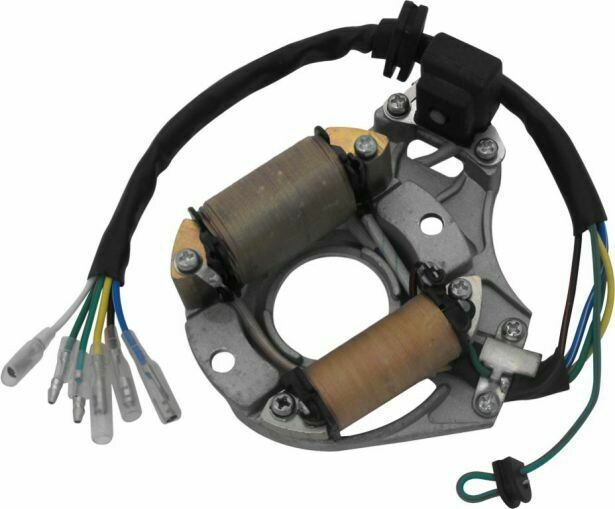 Stator - Magneto Coil, 50cc to 125cc, 6 Wire 30A9030