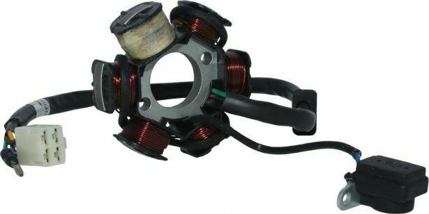 Stator - Magneto Coil, C6, 110cc, Loncin, 5 Wire 30A9304