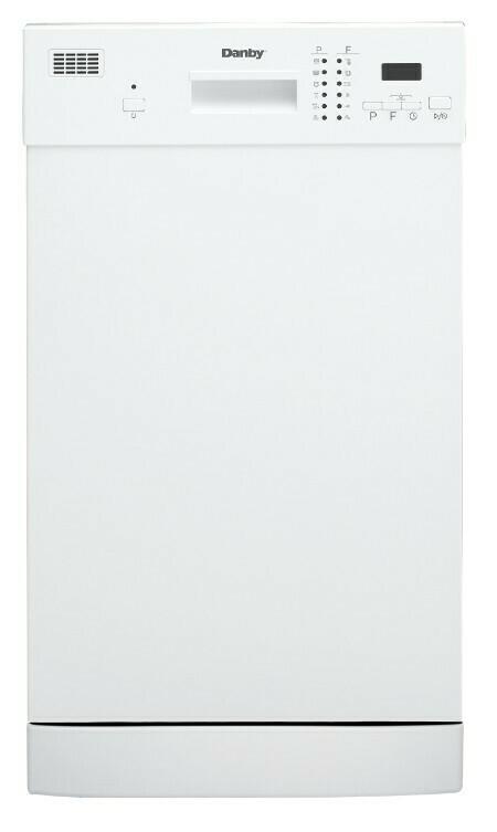 "Danby 18"" White Built-In Dishwasher (DDW1804EW)"