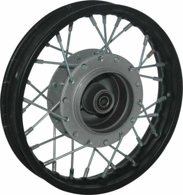 "Rim - Front 10"" Black, Steel Dirt Bike Rim 1.40x10 Drum Brake 40D4203BK"