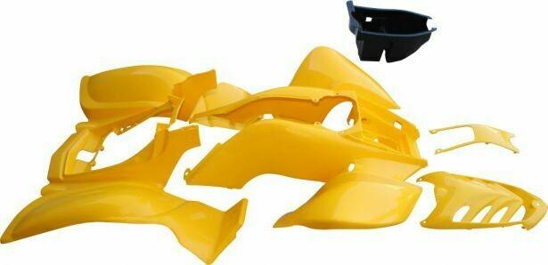 Plastic Set - 50cc to 250cc ATV, Yellow, Racing Style 70A7140YW
