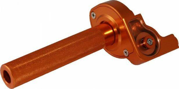 Throttle Lever - Twist Grip, CNC, 90cc to 250cc, Dirt Bike, Yimatzu Brand, Orange 70A3250OG