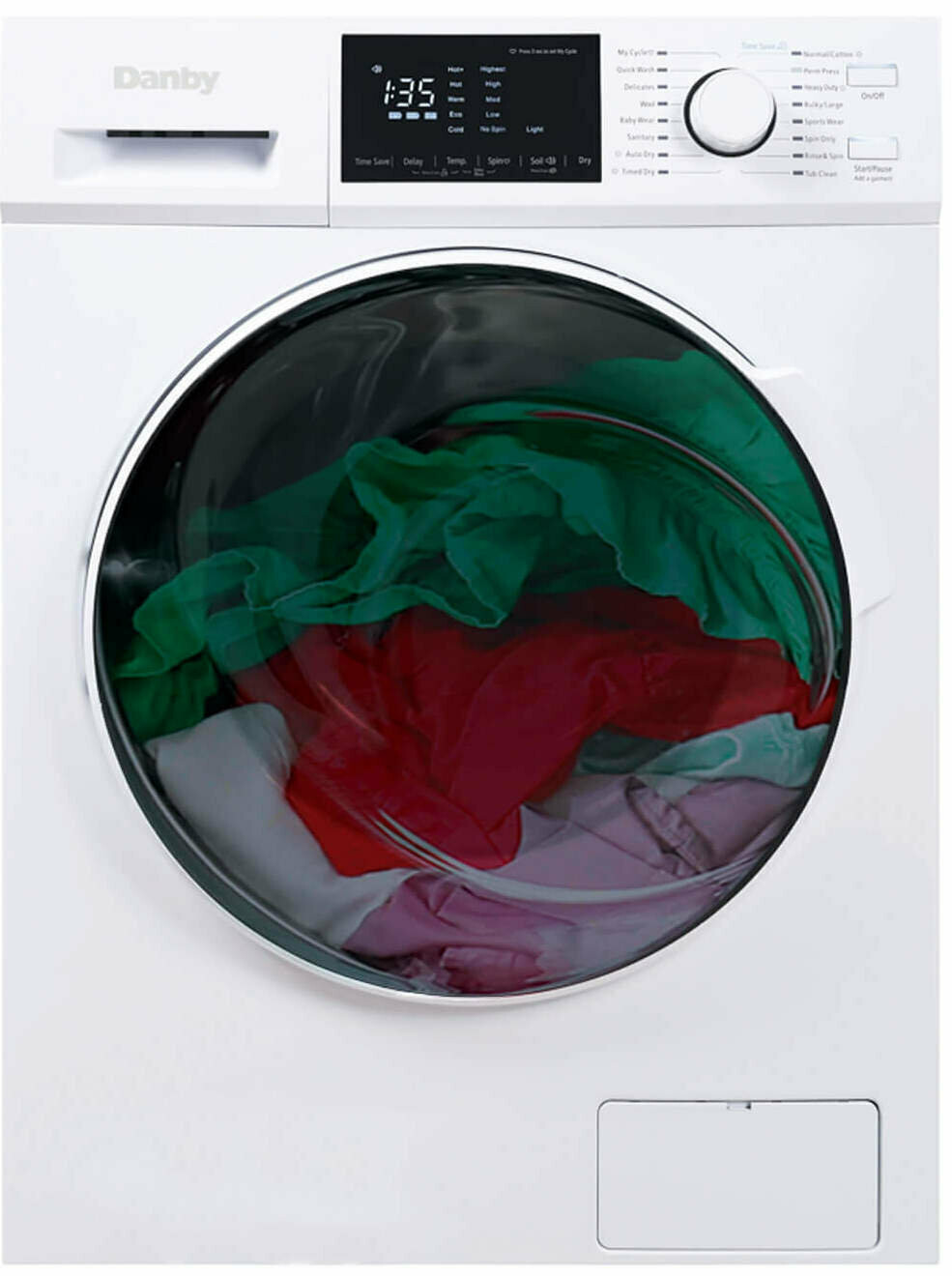 Danby 2.7 cu. ft. All-In-One Ventless Washer Dryer Combo (DWM120WDB-3)