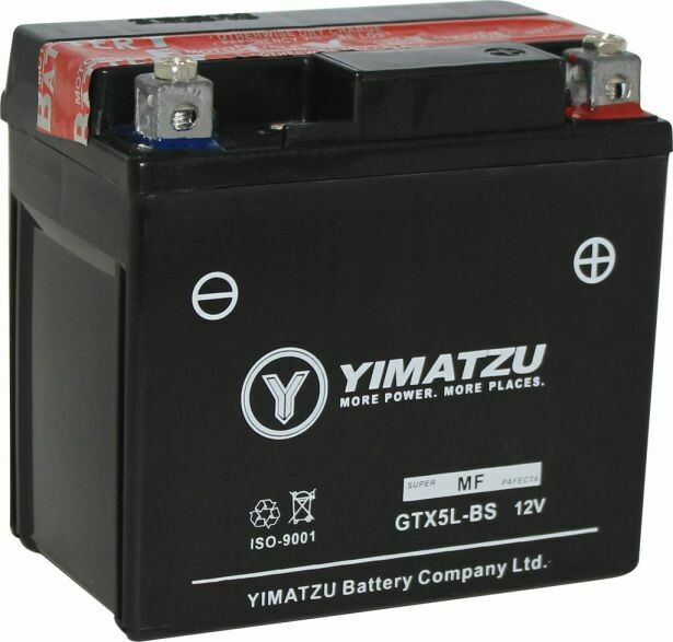 Battery - GTX5L-BS Yimatzu, AGM, Maintenance Free 10A3010