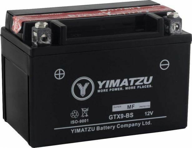 Battery - GTX9-BS Yimatzu, AGM, Maintenance Free