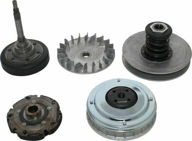 Clutch - Complete Assembly, Torque Convertor, Variator, Clutch Weight, Yamaha, Hisun, 400cc 30A3340