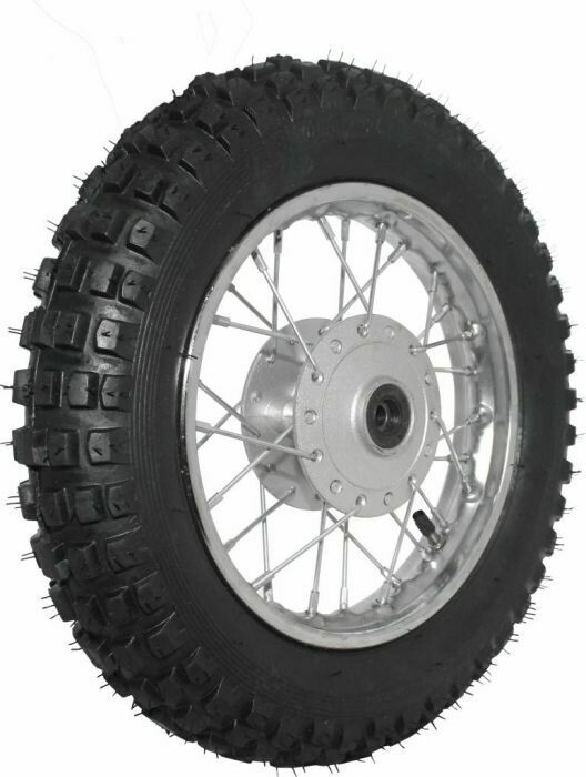 """Rim and Tire Set - Front 10"""" Chrome Rim (1.40x10) with 3.00-10 Tire, Disc Brake"""