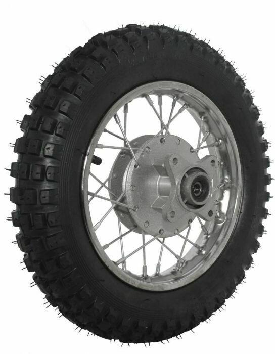 "Rim and Tire Set - Rear 10"" Chrome Rim (1.40x10) with 3.00-10 Tire, Drum Brake 40D4105CR"
