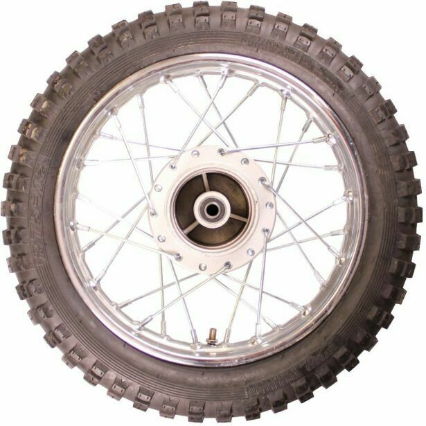 "Rim and Tire Set - Rear 12"" Chrome Rim (1.40x12) with 2.75-12 Tire, Drum Brake 40D4125CR"