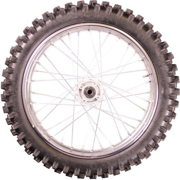 "Rim and Tire Set - Rear 18"" Chrome Rim (2.15x18) with 90/100-18 Tire, Disc Brake 40D4150CR"