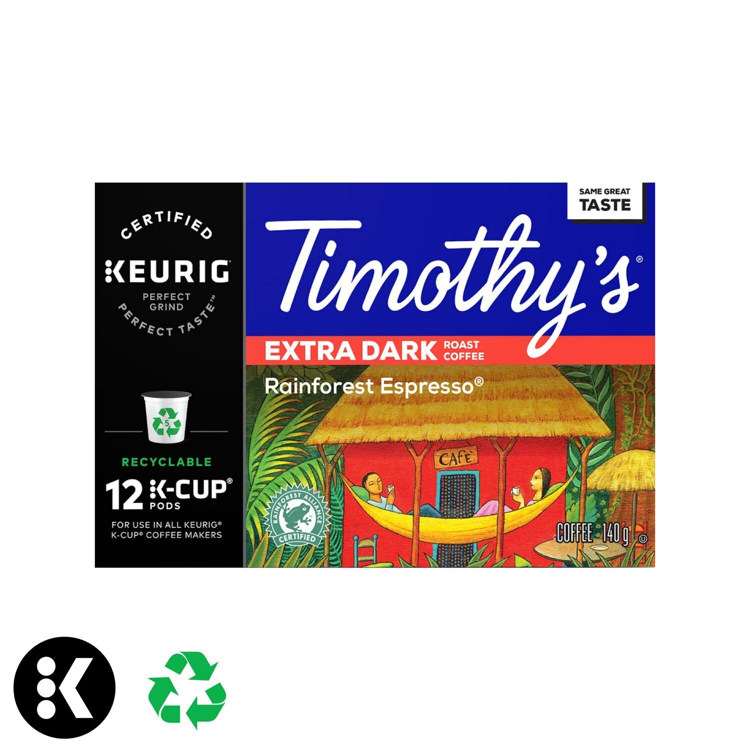 Keurig® Timothy's® Rainforest Espresso® Extra Dark Roast Coffee Recyclable K-Cup® PODS (300 count)
