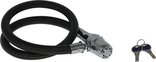 Lock - Heavy Duty Cable Lock, Alarm, 130cm (LCK1006BK)