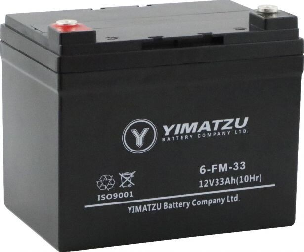 Battery - EV12330 / 6-DZM-33 / 6-FM-33, AGM, 12V 33Ah, Yimatzu