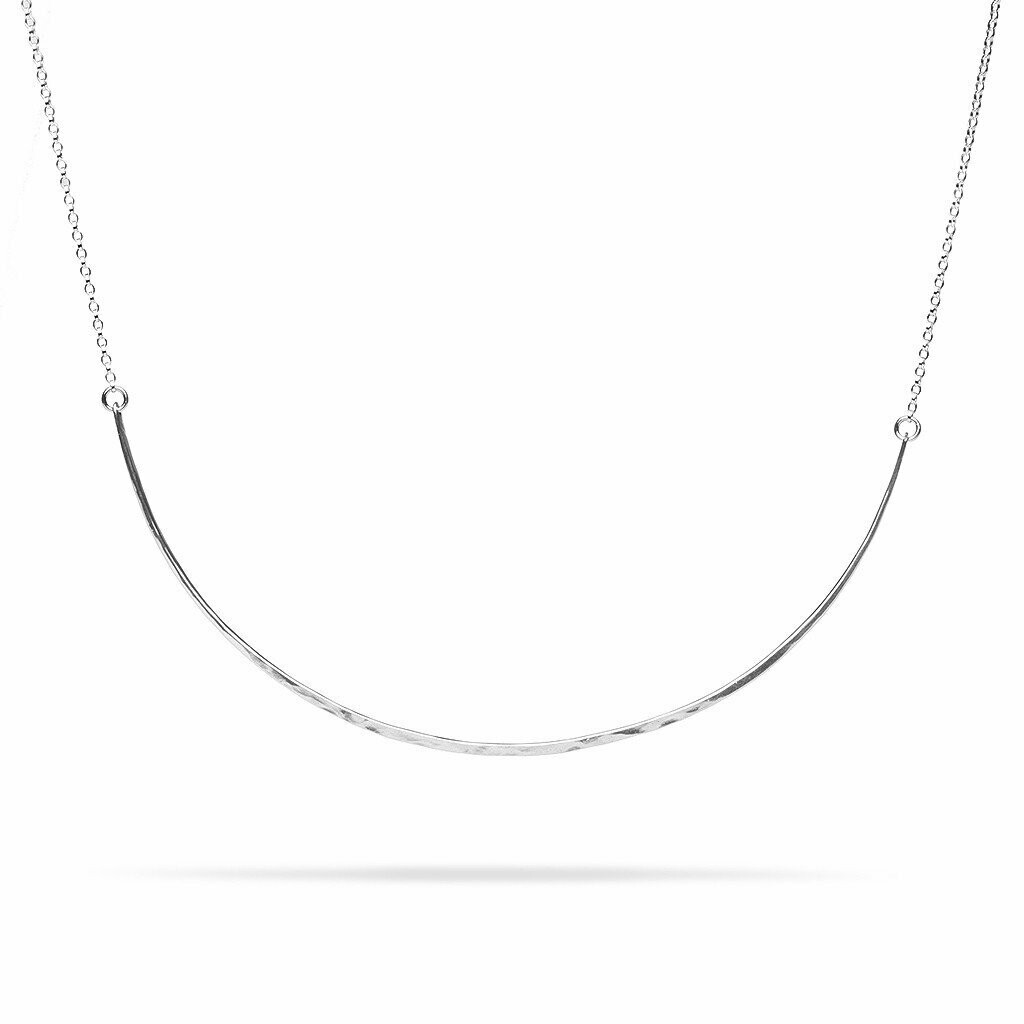 Kara Yoo Bow Necklace Silver