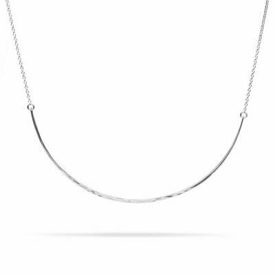 Kara Yoo Bow Necklace Silver