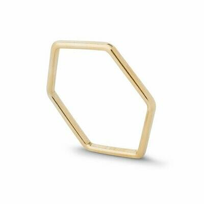 Kara Yoo Hex Ring Gold