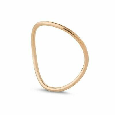 Kara Yoo Wave Ring Rose Gold