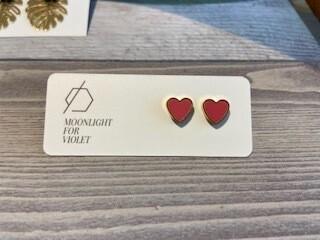 MFV Heart Studs - Sparkle Pink