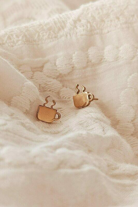 Mimi & August Coffee Earrings