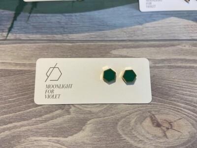 MFV Hexagon Studs  Green