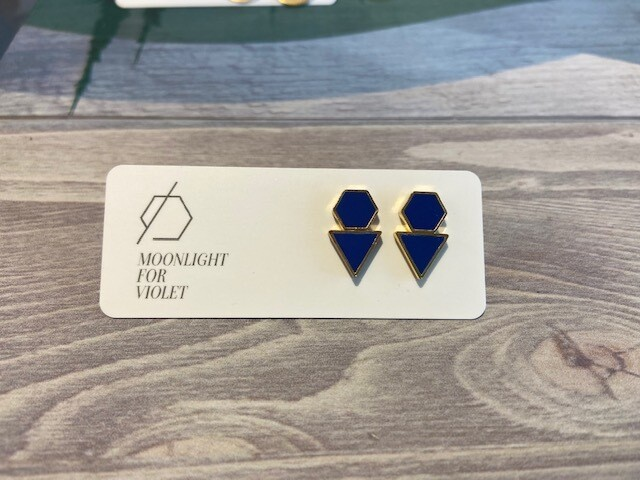 MFV Hexagon + Triangle Studs - Royal Blue